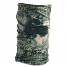 12-in-1 Versatile Neck Gaiter Headwear Half Face Mask Snake Camouflage Green