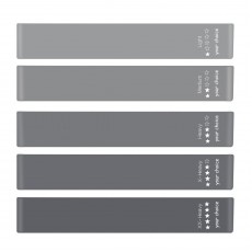 Your Choice Loop Resistance Bands - Gray 11.8x2inch, Set of 5