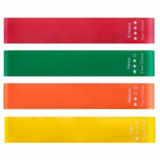Your Choice Loop Resistance Bands - Red 11.8x2inch, Set of 4